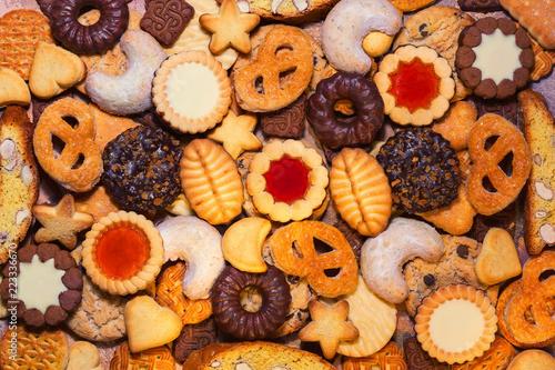 Fotografie, Obraz  Assorted Christmas biscuits