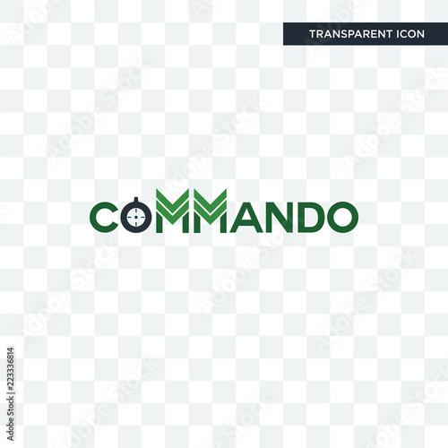 Fotografía  commando vector icon isolated on transparent background, commando logo design