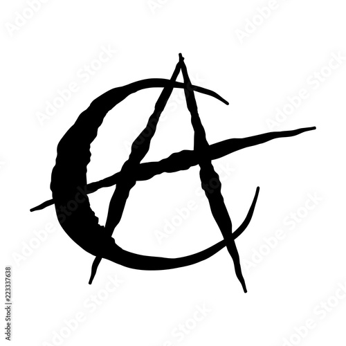 Photo islam anarchism icon - vector iconic