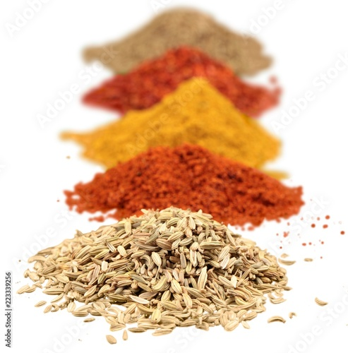 Ground spices spice isolated spices variety of spices close-up