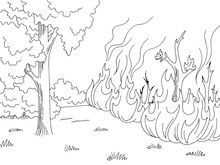 Wildfire Graphic Black White F...