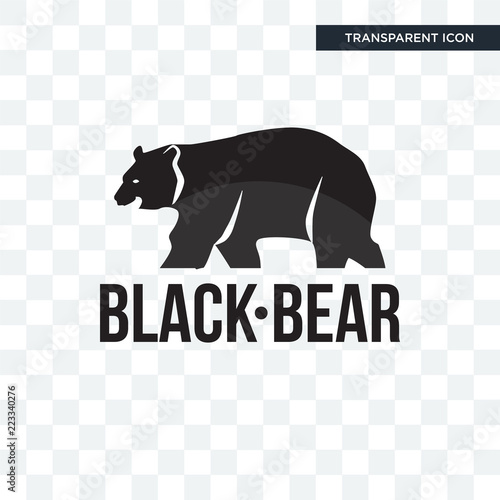 black bear vector icon isolated on transparent background black bear logo design buy this stock vector and explore similar vectors at adobe stock adobe stock adobe stock