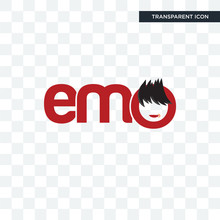 Emo Vector Icon Isolated On Transparent Background, Emo Logo Design