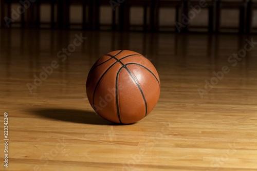 Obraz Basketball Ball on a Court - fototapety do salonu