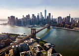 Fototapeta Nowy York - Manhattan bridge New York city aerial view