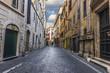 Italian Street Via dei Prefetti, with no people