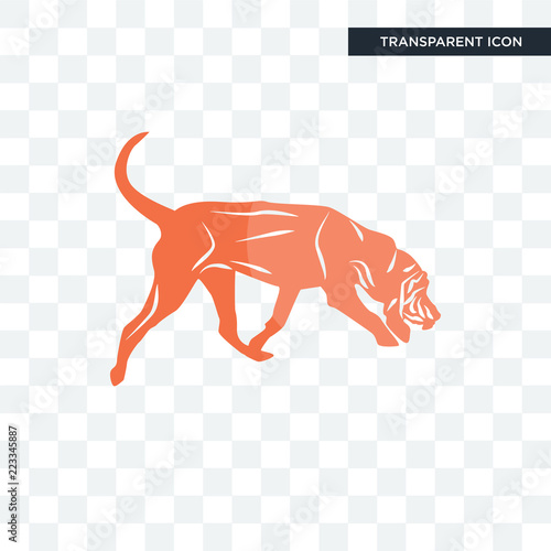 Fotografie, Tablou bloodhound vector icon isolated on transparent background, bloodhound logo desig