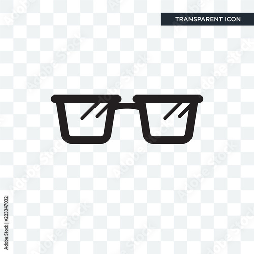 Fotografía  Reading glasses vector icon isolated on transparent background, Reading glasses