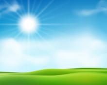 Summer Or Spring Sunny Morning...