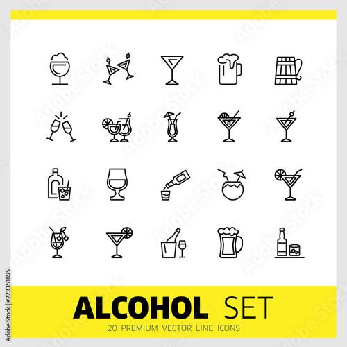 Foto  Alcohol icons