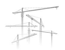 Tower Construction Crane. Vect...