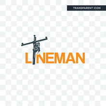 Lineman Vector Icon Isolated On Transparent Background, Lineman Logo Design