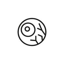 Eye Line Icon. Sensory, Iris, Retina. Halloween Concept. Vector Illustration Can Be Used For Topics Like Optometry, Scary, Anatomy