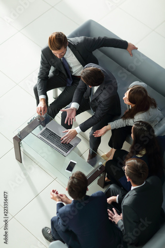 Fotografie, Obraz  Row of business people waiting for an interview. Concept about b