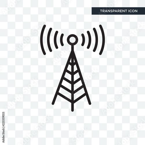 Valokuva  Transmission tower vector icon isolated on transparent background, Transmission