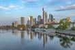 skyline of Frankfurt am Main with river Main