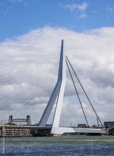 Keuken foto achterwand Rotterdam Erasmus Bridge, Rotterdam, South Holland, The Netherlands