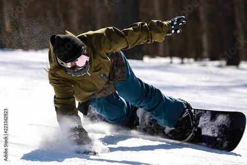 Canvas Prints Winter sports スノーボード