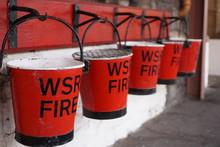 Red & Black Fire Buckets