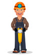 Miner man, mining worker. Cartoon character