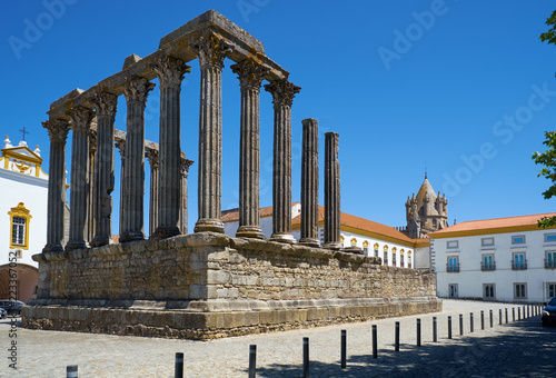 Foto op Canvas Rudnes Temple of Diana. Evora. Portugal