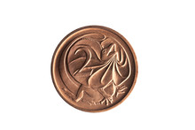 Australia Two Cent Coin With A...