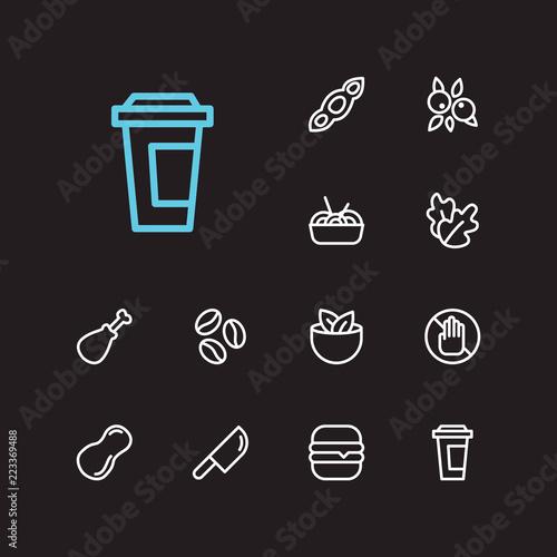 Photo  Food icons set
