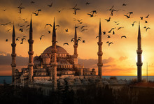 The Blue Mosque In Istanbul Du...