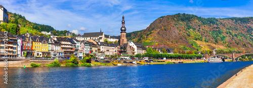 Travel in Germany - pictorial Cochem town. romantic Rhein river