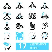 Meditacion Set De Iconos