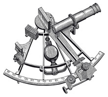 Vector High Detail Sextant Engraving