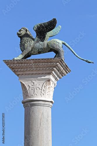 Tuinposter Historisch mon. Column of San Marco Venice