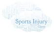Sports Injury word cloud.
