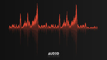 Vector Echo Audio Wavefrom. Ab...