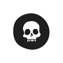 Skull Icon Vector Illustration