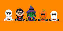 Banner Halloween Mummy, Vampir...
