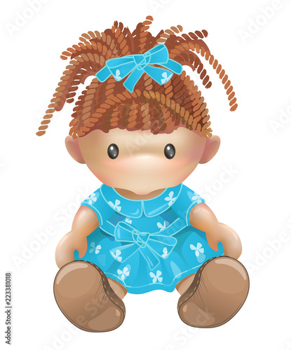 Obraz na plátně Doll. Rag toy. Threads