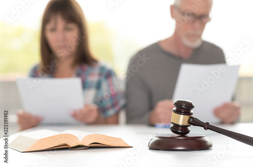Concept of divorce, focus on foreground