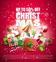 Luxury Christmas Sale Poster