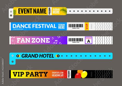 Entrance bracelet at concert event zone festival Fototapeta