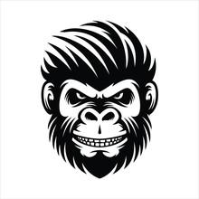 Monkey Hairstyle Men Illustrat...