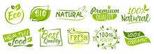 First Set Of Bio And Eco Stickers