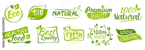 Tela  First set of Bio and Eco stickers