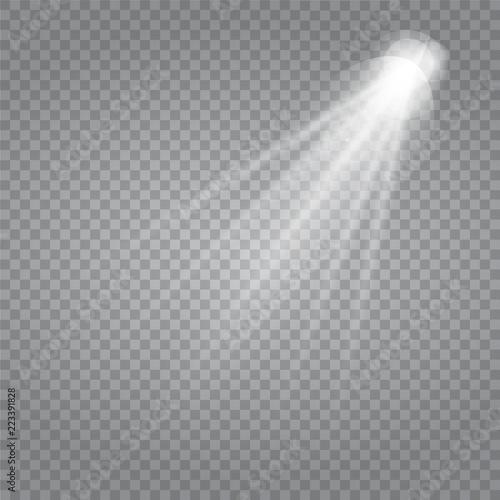 Fototapeta White glowing light burst explosion with transparent. obraz na płótnie