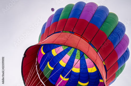 Fotografie, Obraz  Colorful hot air balloon launched in the air