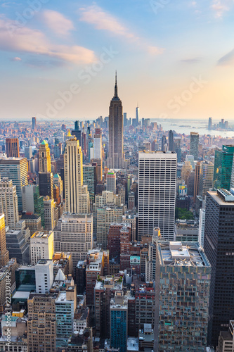 Obraz na plátně Manhattan - View from Top of the Rock - Rockefeller Center - New York
