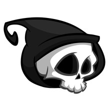 Death Skeleton Character Suitable For Halloween, Logo, Religion And Tattoo Design