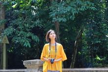 Woman Traveling To Lam Kinh Pa...