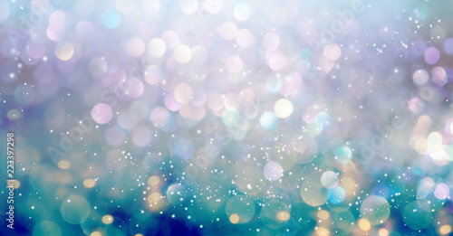 Beautiful abstract shiny light and glitter background Fototapet