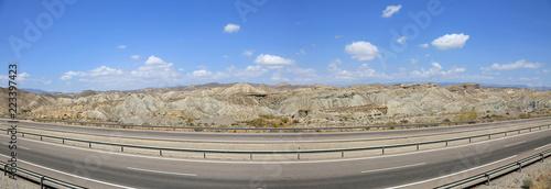 Photo autovía desierto almería tabernas andalucía 2-f18